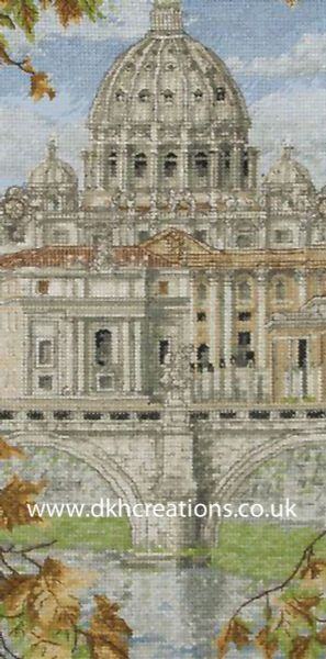 St Peters Basilica Cross Stitch Kit